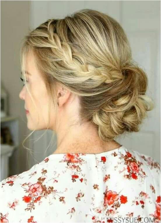 Low Bun Braid Prom Updo With Braid Bun Hairstyles With Braids Updo Hairstyles