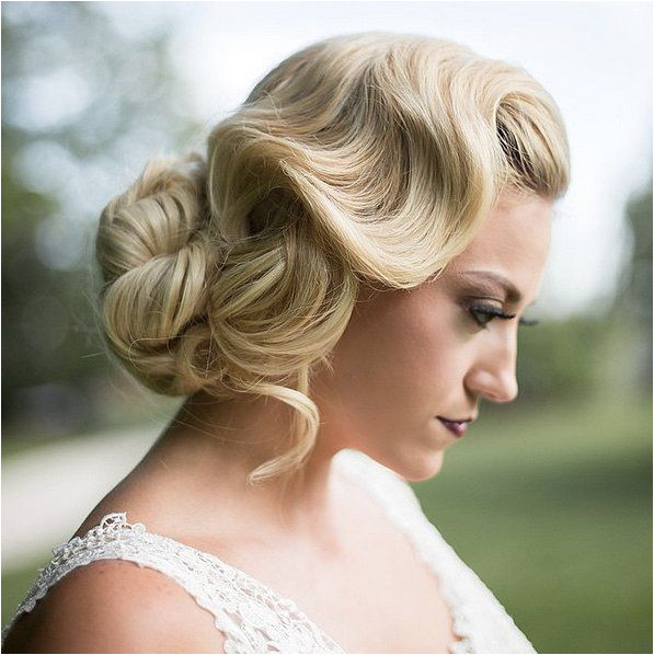 Finger waves with bun More