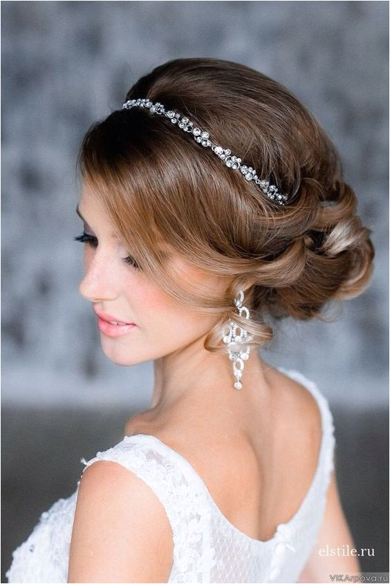 Wedding Hairstyles with Headpiece Wunderschöne Hochzeit Frisuren Mit Tiara Hochzeit