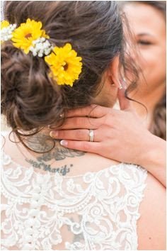 Bright fall sunflower wedding