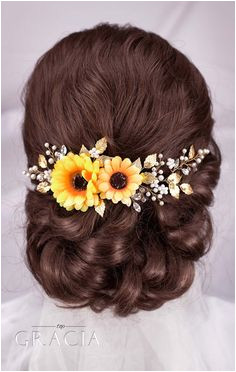 Amazing Sunflower Wedding Theme Ideas Fabulous Accessories for Hairstyles by TopGracia