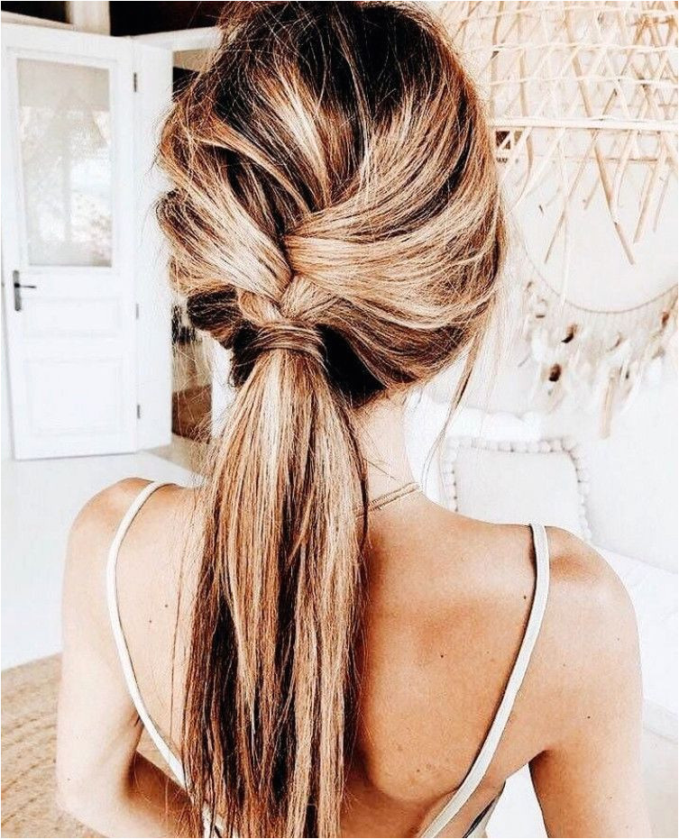 Cute twisted ponytail easy hairstyle Hair ideas and hairstyles that are simple and cute