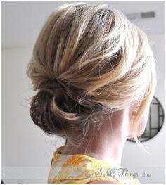 Chic Updo for Short to Medium Length Hair Summer Hair Medium Hair StylesShort