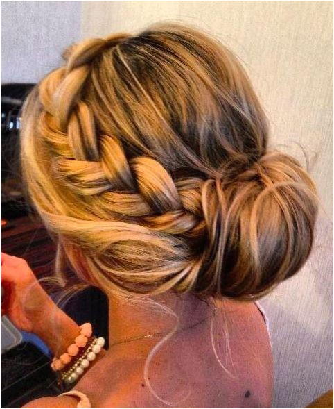 Braids Braided Side Bun Hairstyle for Women with Thick Hair