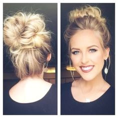 Best Easiest Messy Bun I have ever learned to do Easy for any