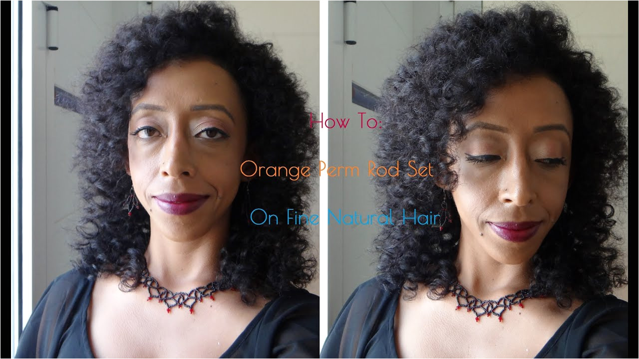 How To Dry Perm Rod Set on Fine Natural Hair