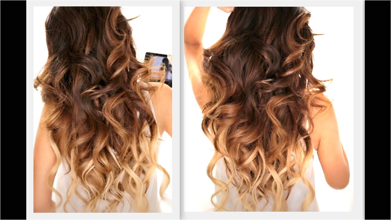 BIG FAT Voluminous CURLS HAIRSTYLE How To Soft Curl