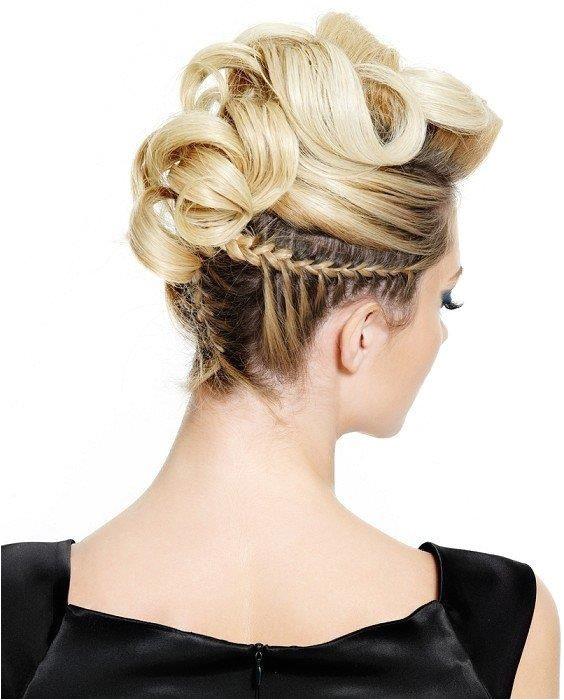 Updo braided haircut with braid hairstyles hairstyle hair long short medium buns bun updo braids bang greek braided blond asian wedding