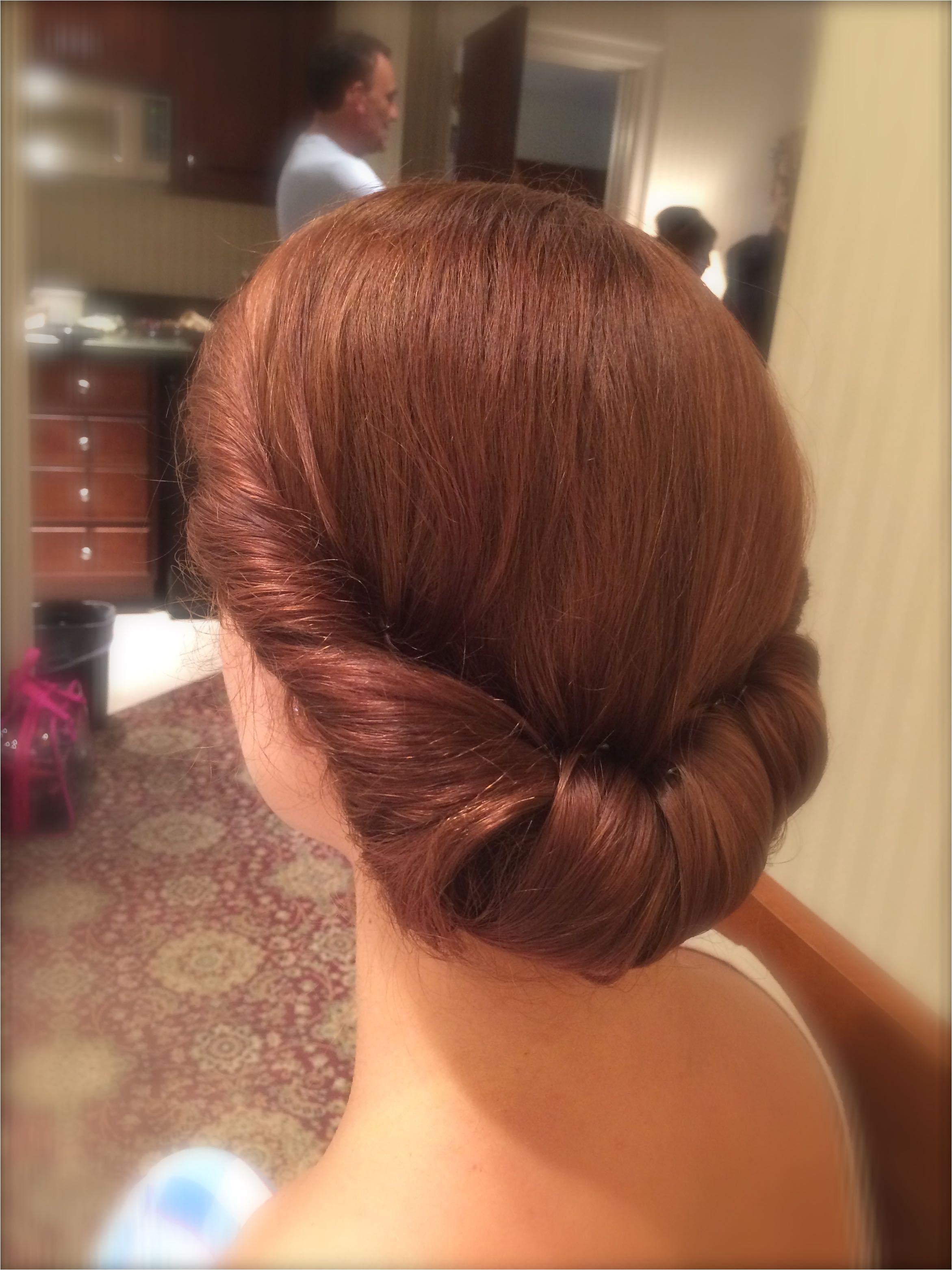 Wedding Bridal Updo Vintage Retro Chignon Retro Wedding Hair
