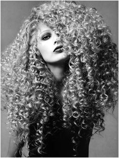 Kirsty Hume with crazy locks