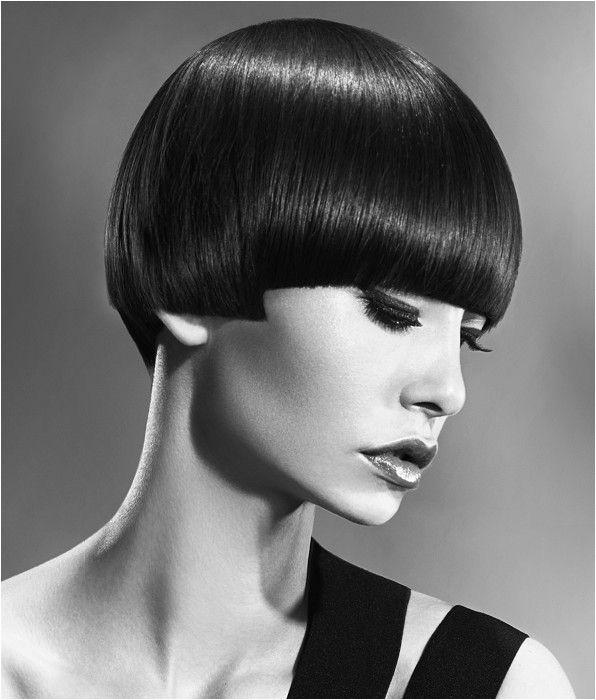 Short Black Defined fringe Hairstyle