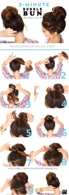 Frisuren 2 Minuten kleines Mädchen haarig Haar Pigtails langes Haar
