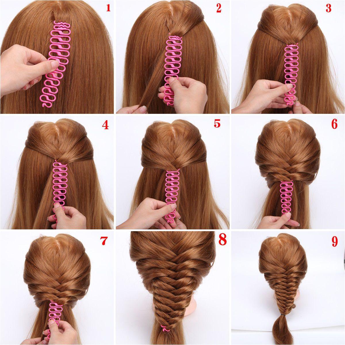 $3 99 3 Colors French Hair Braiding Tool Centipede Braider Roller Hook Twist Maker Diy ebay Fashion