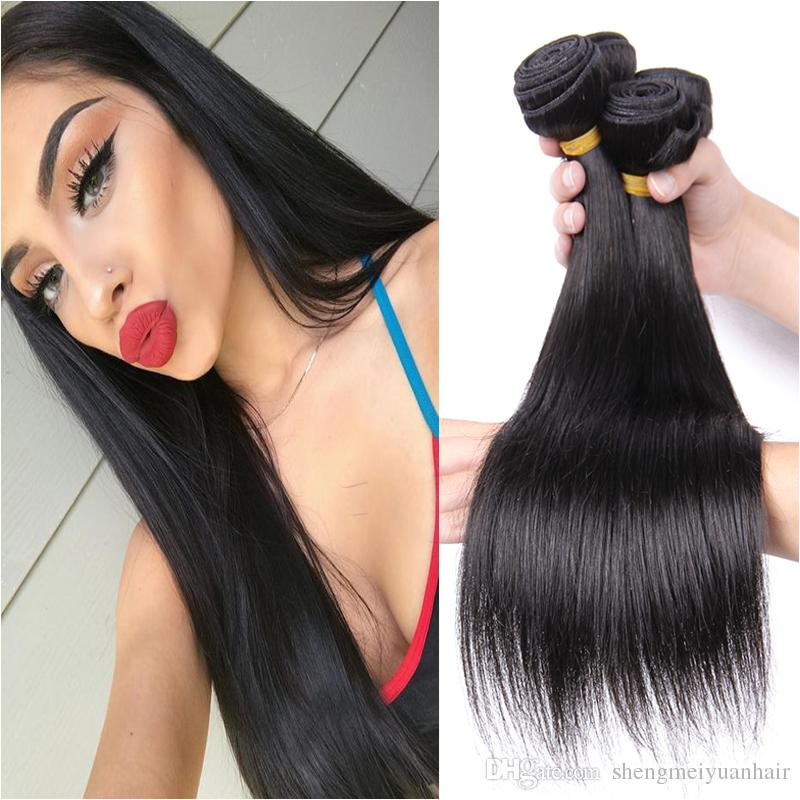 Brazilian Straight Hair Extension 10 26 Inches Remy Human Hair 3 Bundles Nature Color Can Be Dyed Cheap Human Hair Extensions Wefts Human Hair Wefts Cheap