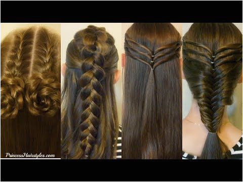 4 back to school hairstyles Cute and Easy braided hairstyles half up hairstyles Video hair tutorials
