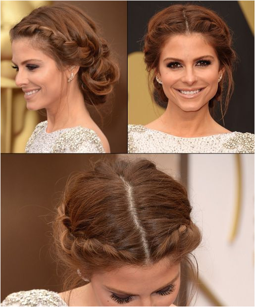Maria Menounos with beautiful braids at the Oscars 2014 Bridesmaid Hair Updo Braid Braided Prom