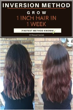 Inversion Method Grow 1 INCH of Hair in 1 WEEK Fastest Results