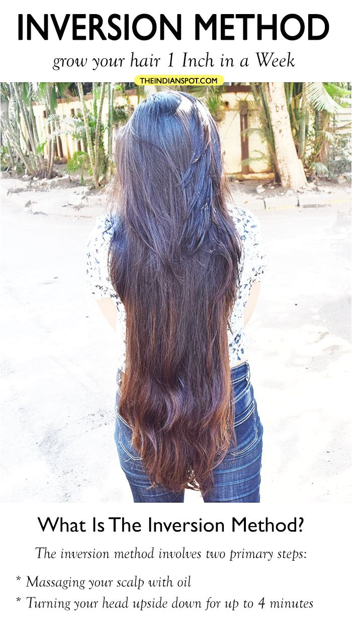 Inversion Method grow your hair 1 Inch in a Week THEINDIANSPOT
