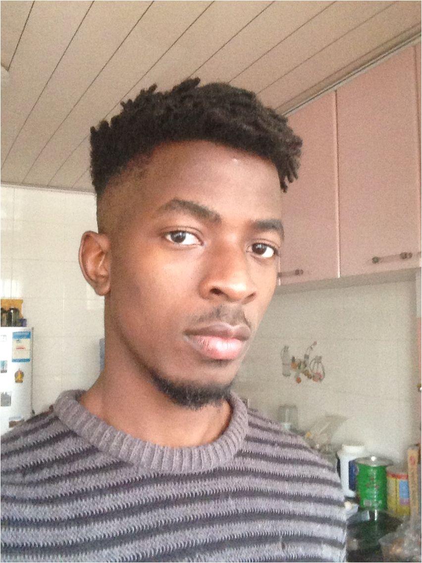 High top finger twist fade natural hair 4c men s hair