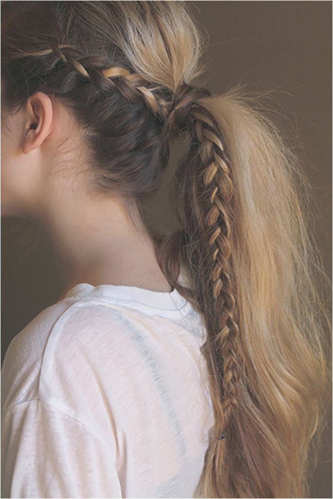 There s nothing quite like a messy pony with the added chicness of a braid How do you work in a braid or two to your look