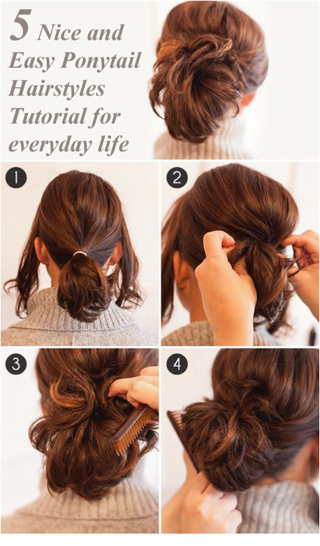 Looking for some nice and easy ponytail hairstyles idea We are here with five nice and easy ponytail hairstyles Ponytails are casual but if designed