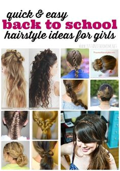 Try these quick and easy hairstyles for girls on those hurried