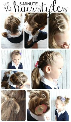 Girls 5 min hair styles for school Easy Hairstyles For School Easy Little Girl Hairstyles
