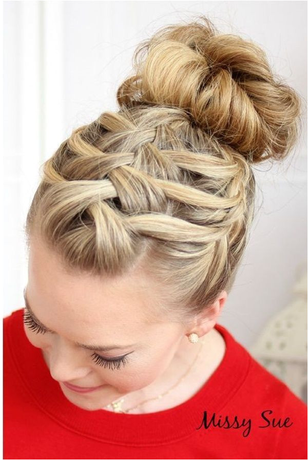 Simple & Easy Hairstyles for School girls 7