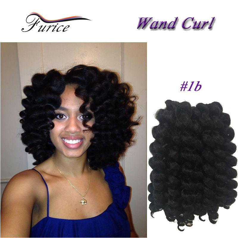 Wand Curl Braid New Value Twist Braiding Hair 8 Inch 20roots pack Ombre Jumpy Wand Curl Crochet Braids Hair Extensions