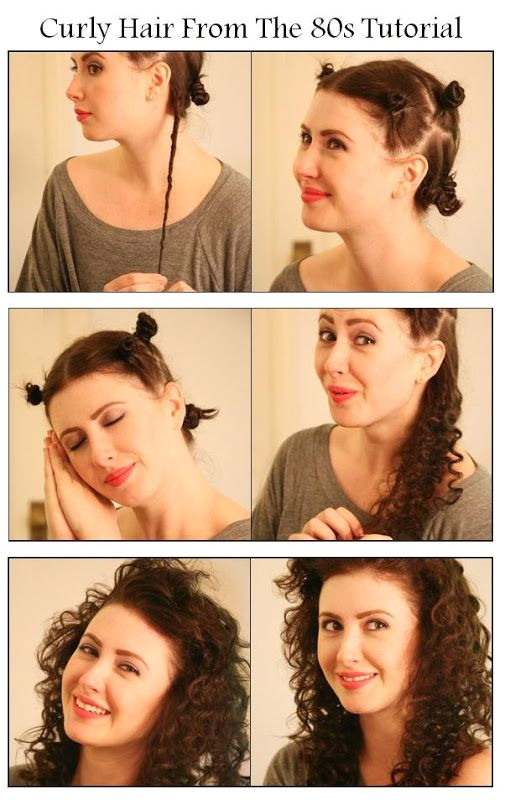 Make A Curly Hair From The 80s
