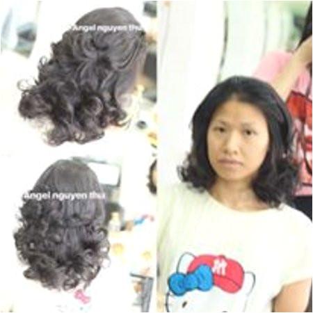 Hair Salon and Spa Angel Nguyen Thu curly hair