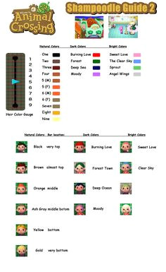 Animal Crossing New Leaf Shampoodle Guide 2 Hair Colors