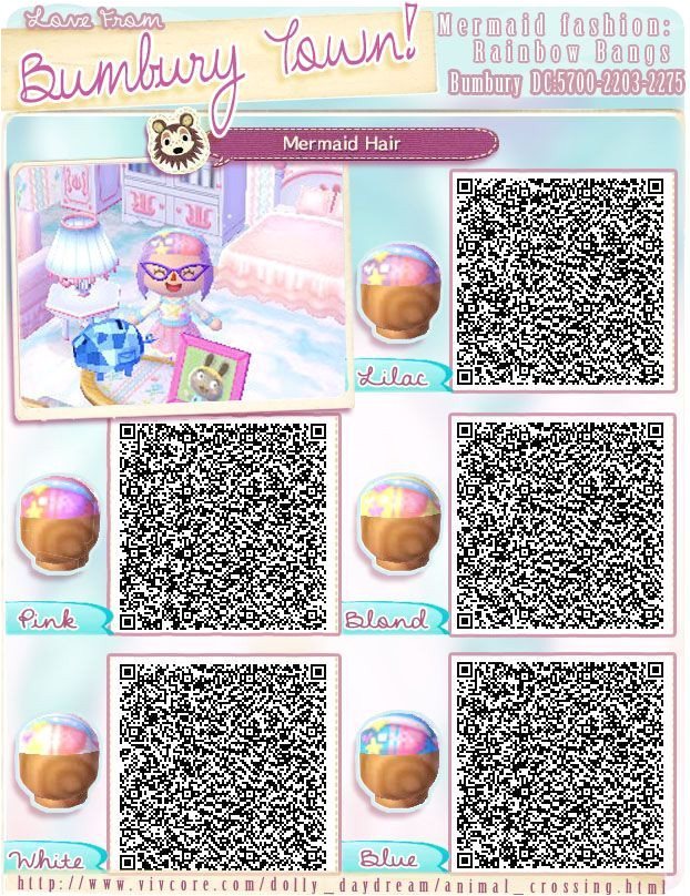 Acnl Hairstyle List Animal Crossing New Leaf Light Purple Qr Code Google Search