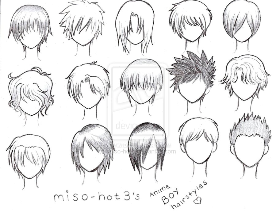 ANIME BOY HAIRSTYLES = by pmtrix on DeviantArt