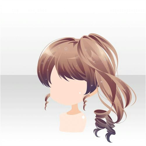 Anime Girl Hairstyles Chibi Hairstyles Hair Reference Drawing Reference Anime Hair