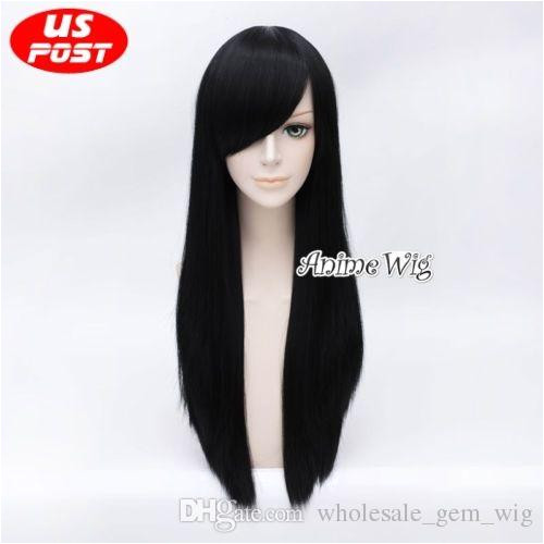 70CM Alice Madness Returns Women Long Straight Black Hair Anime Cosplay Wig Wig Cap Hairstyles Wig Caps For Big Heads From Wholesale gem wig $22 1 DHgate