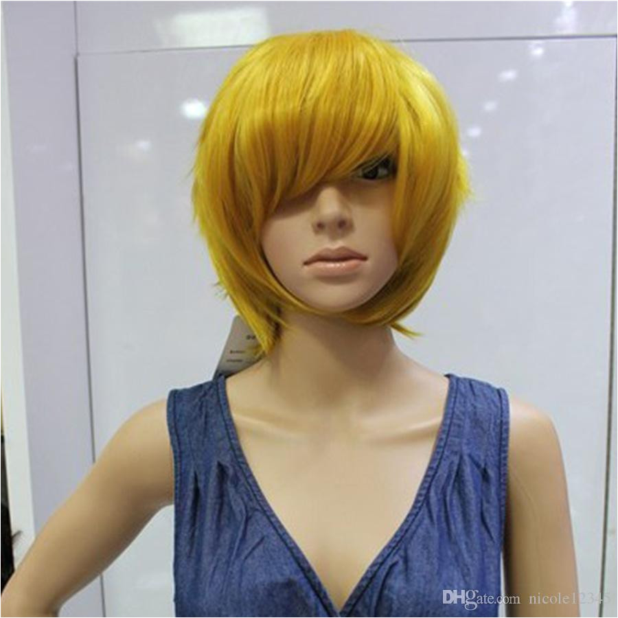 Short Striaght Hairstyle Capless Synthetic Hair Wigs Full Wigs Four Colors Available Party Wigs Anime Cosplay Wigs 100 Human Hair Wigs Grell Sutcliff