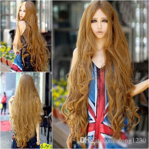 Super Long 100CM Full Wigs Fashion Cosplay Costume Hair Anime Wavy Straight Curl Full Lace Front Wigs Remy Wigs From Dong1230 $21 09 DHgate