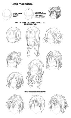 all types of anime hair Google Search