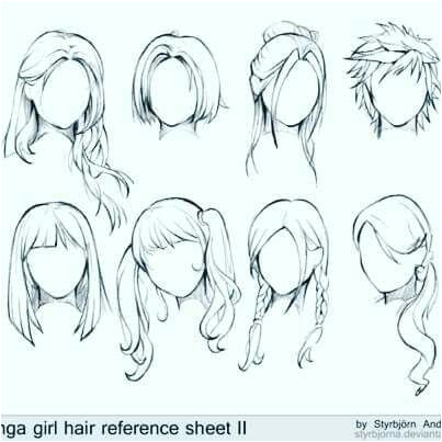 Hair Styles Drawing Anime Hair Drawing Girl Hair Drawing How To Draw Anime