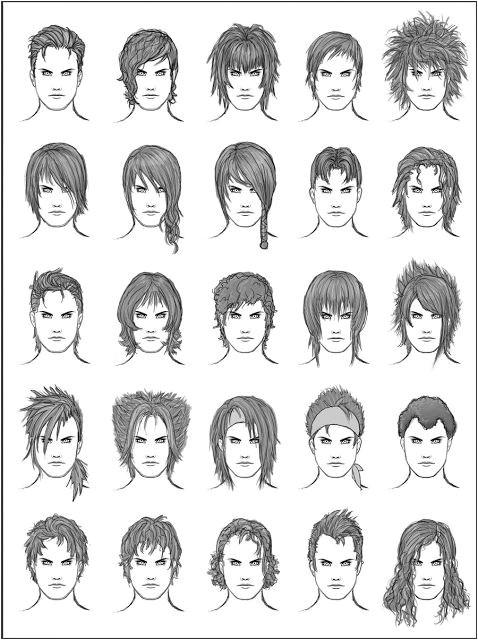 o Desenhar Mangá Gabaritos de Cabelos Anime Hairstyles Male Drawing Tips Guy Drawing