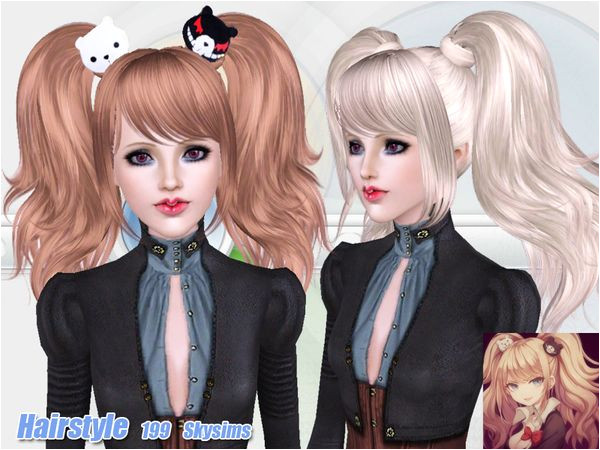 Anime Hairstyles Sims 3 Anime Hair 199 by Skysims Sims 3 Downloads Cc Caboodle
