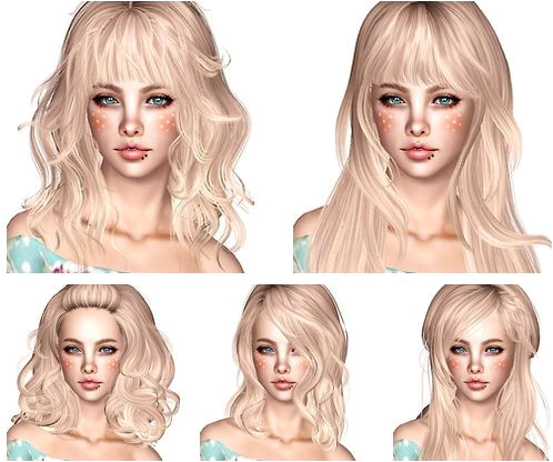 Newsea Hair Dump part 2 by Magically Delicious for Sims 3 Sims Hairs