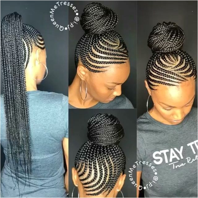 Feed In Braids Bun Cornrows In A Ponytail Feed In Braids Ponytail Ghana