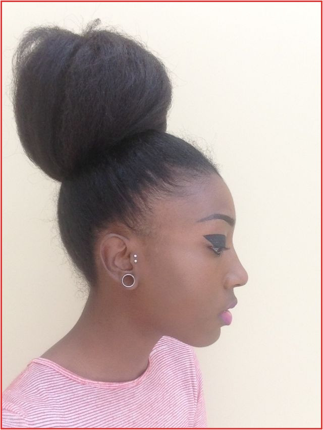 Black Hairstyles Buns with Bangs 4c Hair Afro Hair Natural Afro Hair Afro High Buns