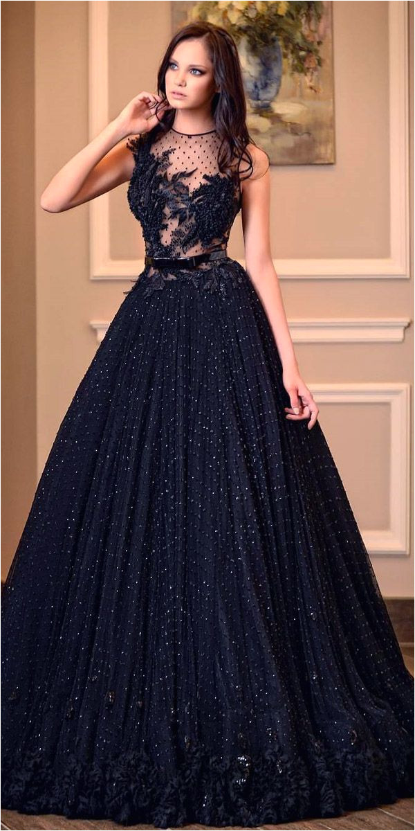Black Hairstyles for evening Wear 21 Black Wedding Dresses with Edgy Elegance