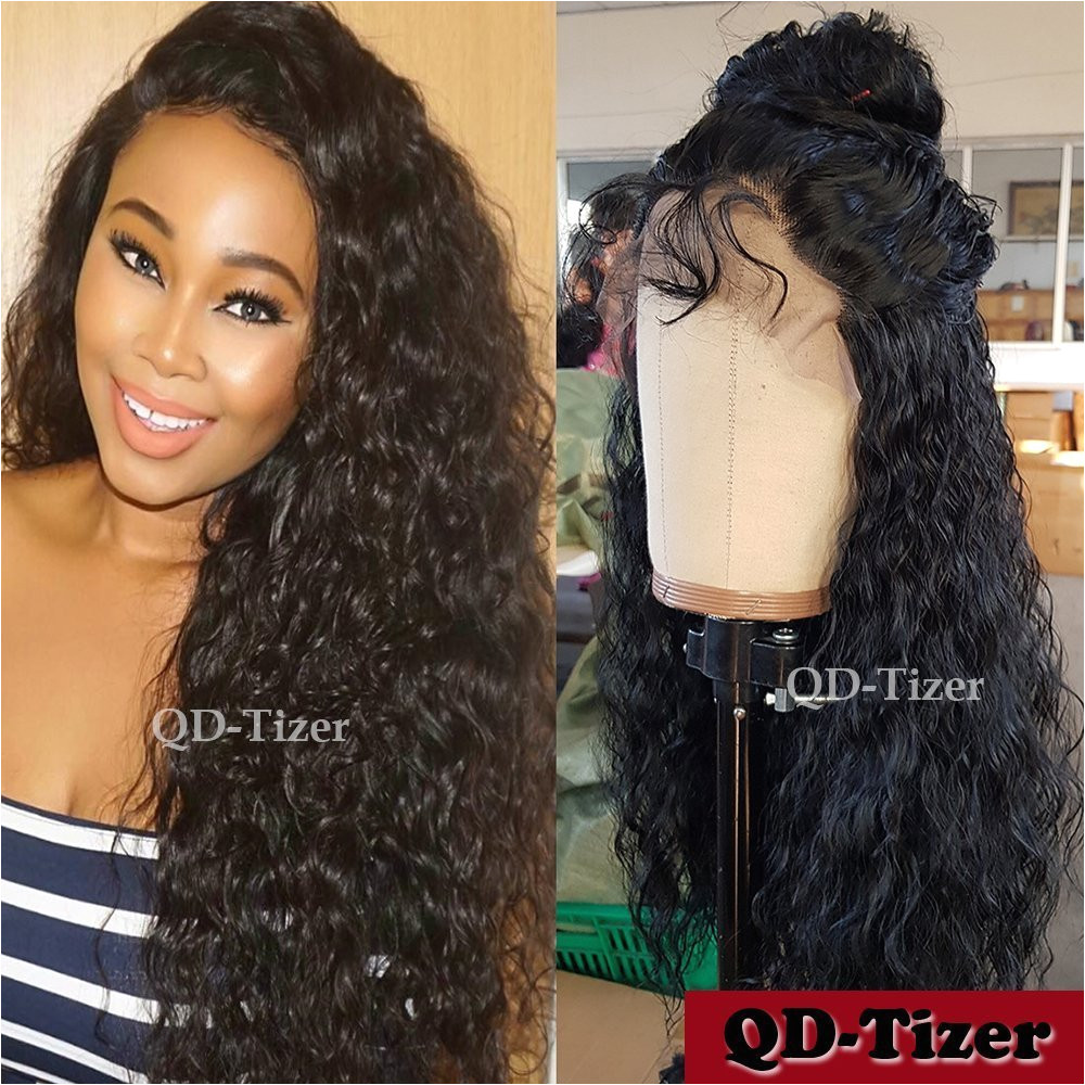 Amazon QD Tizer Loose Curl Synthetic Lace Front Wigs Black Curly Lace Front Wigs for Black Women 20 Inch Beauty