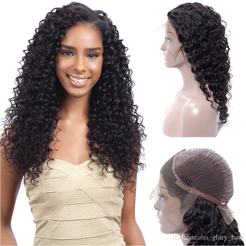 Brazilian Human Hair Wigs Deep Wave Lace Front Wigs Brazilian Malaysian Indian Human Hair Lace Front Wigs For Charming Black Women Headband Wigs Wig Sale