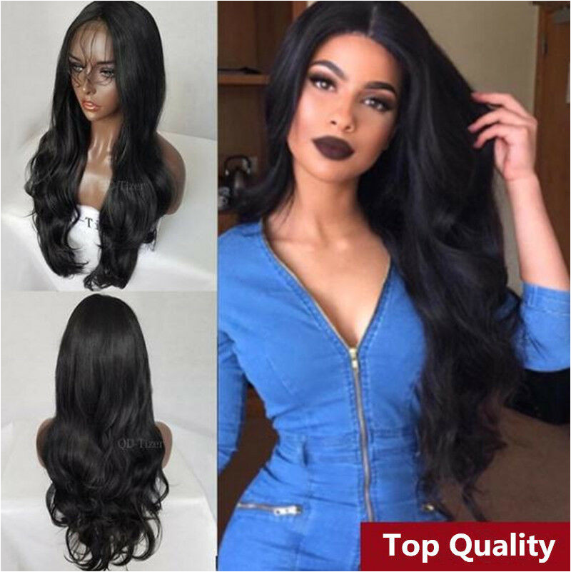 Black Hairstyles Lace Front Wigs Hot Women S Lace Front Wig Synthetic Hair Black Body Wavy Wigs Long