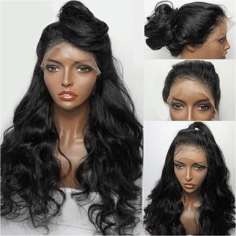 Black Hairstyles Lace Front Wigs Long Free Part Fluffy Wavy Synthetic Lace Front Wig